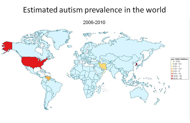 Rate Autism World Map