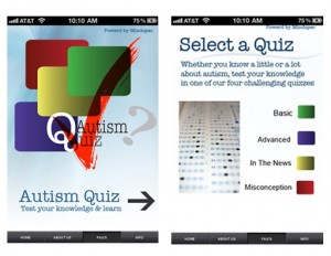 Autism Quiz app new screenshots cropped