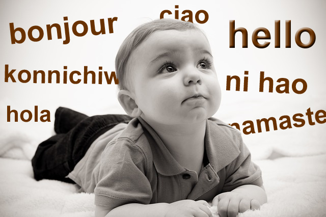 baby hearing foreign words